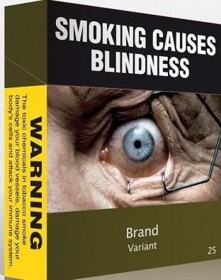 Новый стандарт пачки сигарет в Австралии