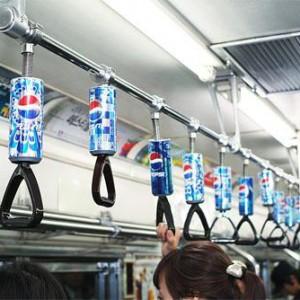 пепси в автобусе реклама