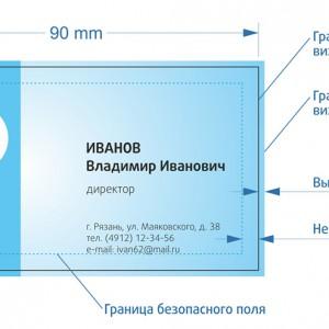 размер визиток