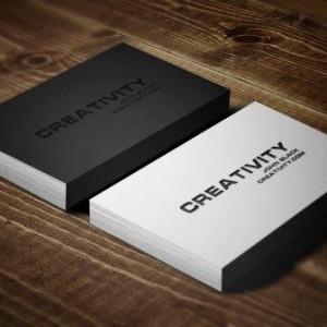 креативный стиль визитных карточек
