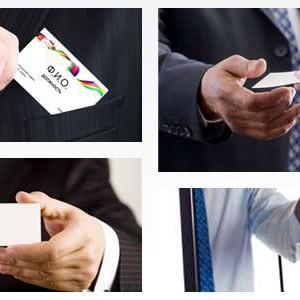 типы визитных карточек