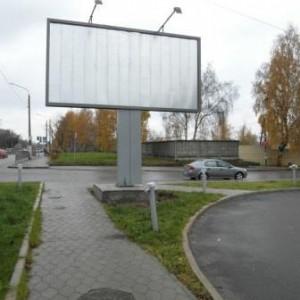 Пример рекламного щита перед размещением рекламы