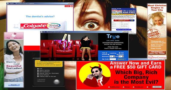 Коллаж из баннеров популярных интернет-ресурсов
