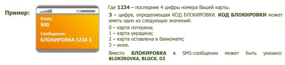 Перечень кодов для блокировки