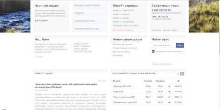 Контакты Промсвязьбанка