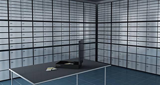 Спецмальная защищенная комната с банковскими ячейками