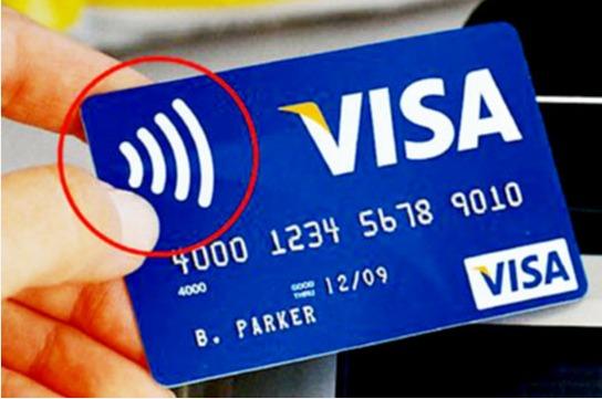 Значок бесконтактной банковской карты visa
