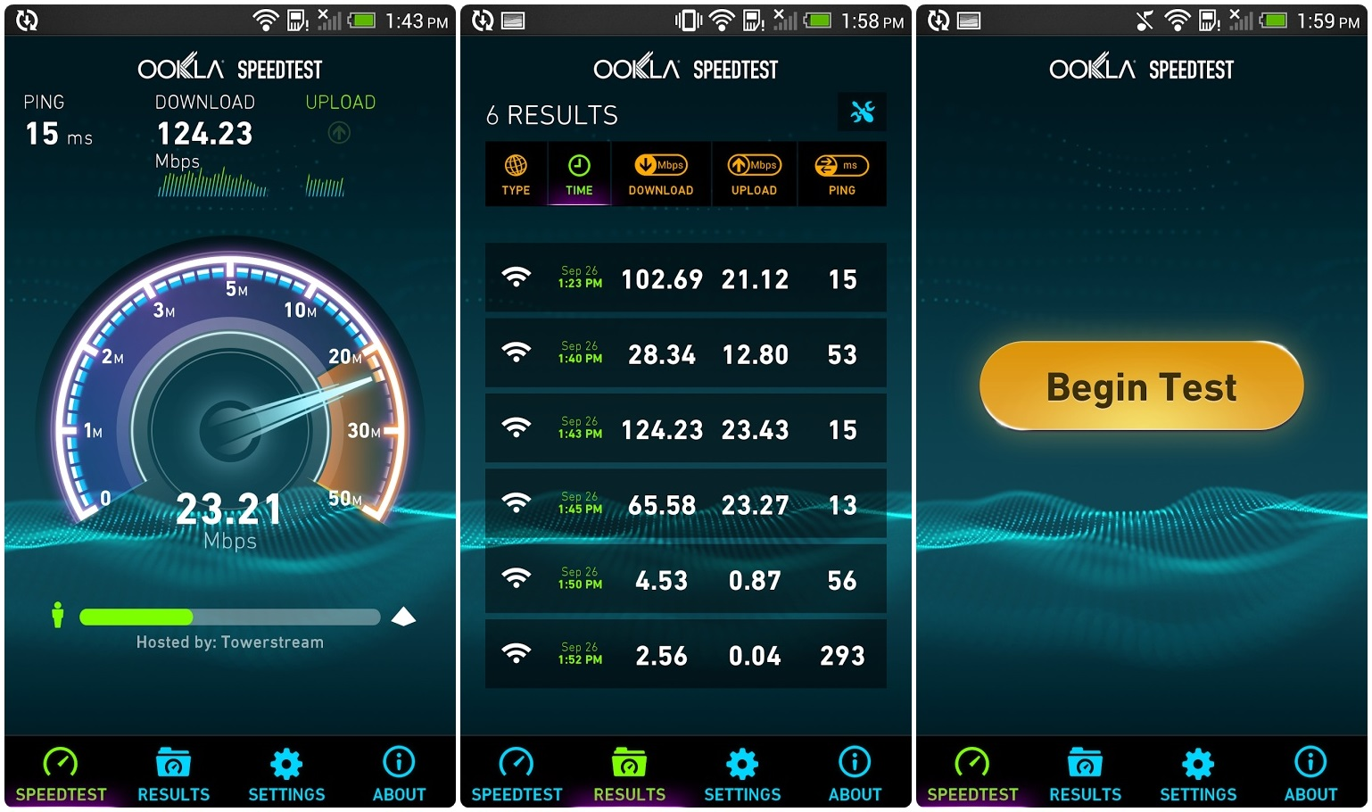 как пользоваться Ookla Speedtest