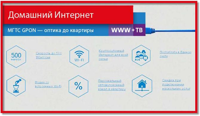 тарифы интернета мгтс