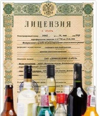документы для торговли алкоголем