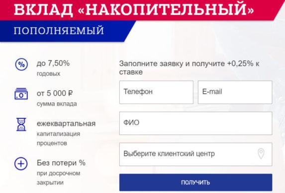вклад депозит почта банка накопительный