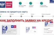 Как заполнить заявку на кредитную карту или кредит Почта Банка