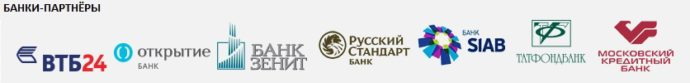 список банков партнеров почта банка