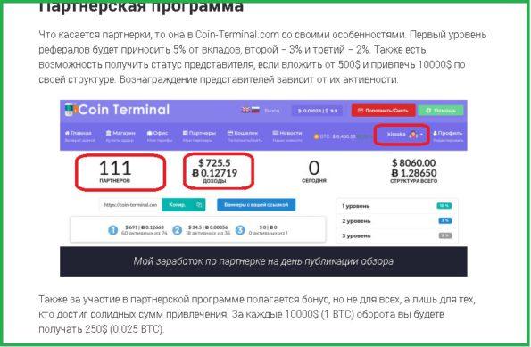 скрин дохода пользователя kisska