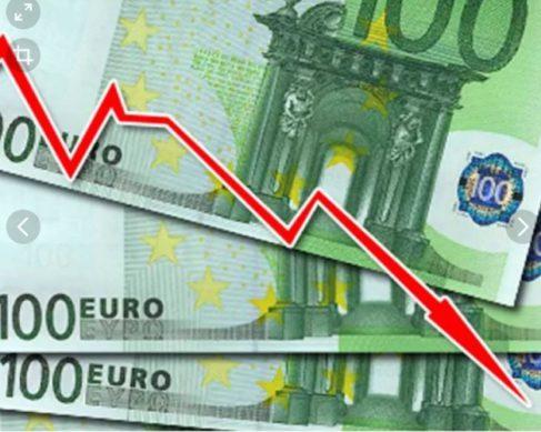 сегодня падает курс рубля