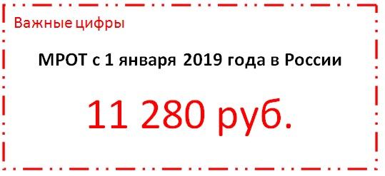 Минимальный размер оплаты труда по России в 2019 году