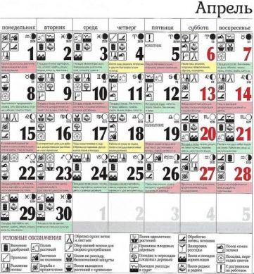 посевной календарь огородника и садовода апрель 2019