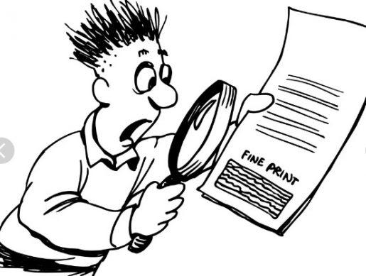 всегда внимательно читайте все пункты кредитного договора