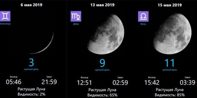 фазы луны 2019 май