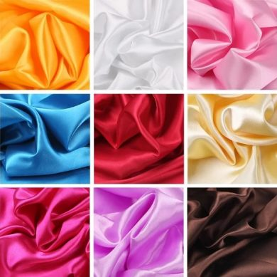 какие вида атласной ткани существуют