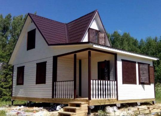 каркасно-щитовой дом пример фото
