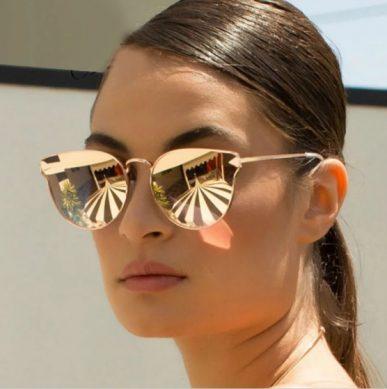 солнцезащитные женские очки 2019 с зеркальными линзами