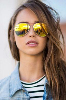 солнцезащитные женские очки авиаторы женские