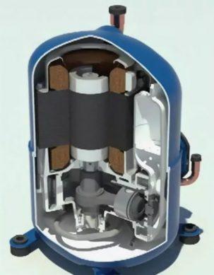 схема поршневого компрессора холодильника