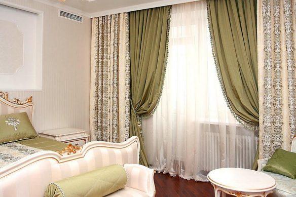 как побрать шторы для спальни