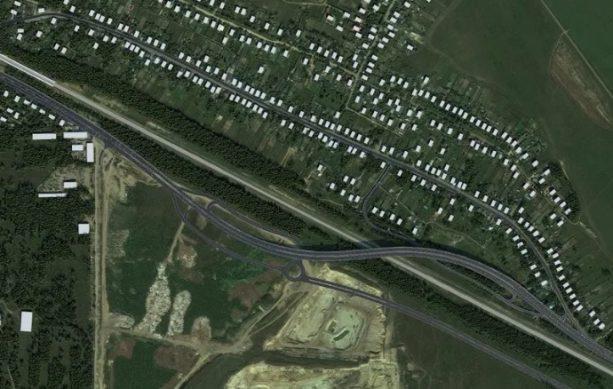 как проводится реконструкция шоссе вид со спутника