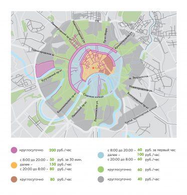 карта москвы с бесплатными парковками