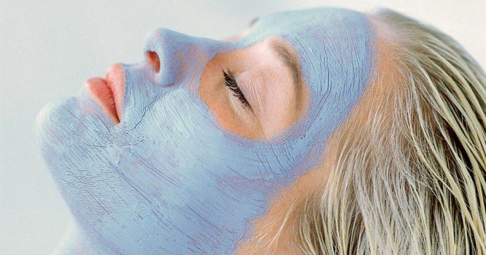 маска для лица из голубой глины