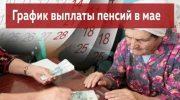 Какого числа зачислят пенсию в мае 2019 года в России