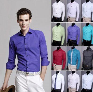 классические мужские рубашки цвета
