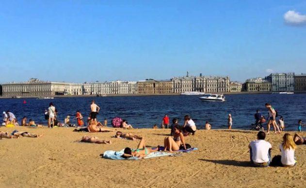 отдых лето петербург пляж возле петропавловской крепости