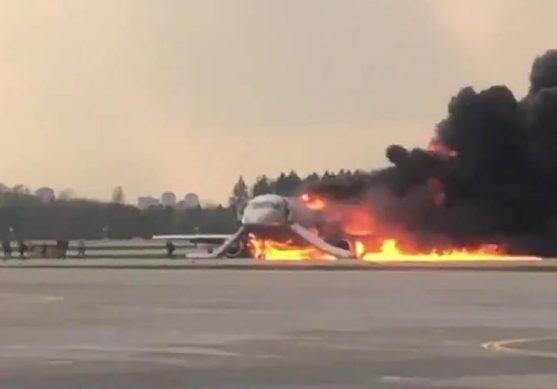 загорелся самолет в шереметьево