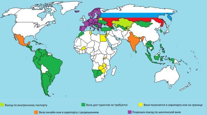 полный список безвизовых стран в 2019 году для россиян