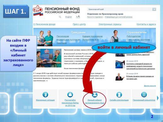 регистрация на сайте ПФР в личном кабинете