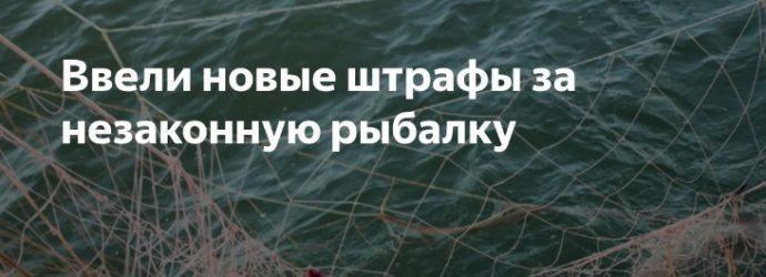 штрафы на рыбалку