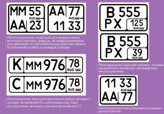 новый ГОСТ номеров для автомобилей постановка на учет