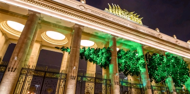 парк горького москва новый год 2020